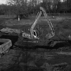 Sterk Heukelum - Waterbouw meny zwart wit